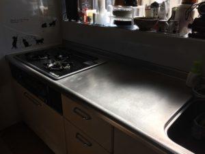キッチン作業台掃除後