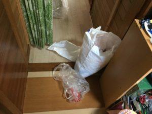 レジ袋整理収納前の状態