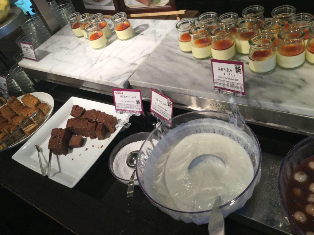 ラビスタ函館ベイの朝食ガトーショコラ