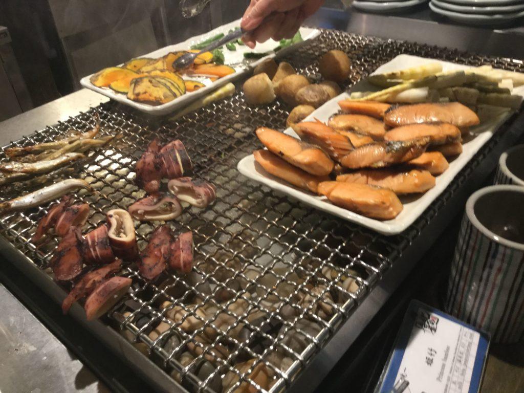 ラビスタ函館ベイの朝食網焼き